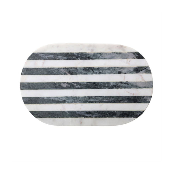 Striped Oval Marble Board