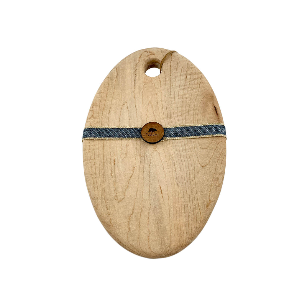 Tiger Maple Oval Serving Board - Small