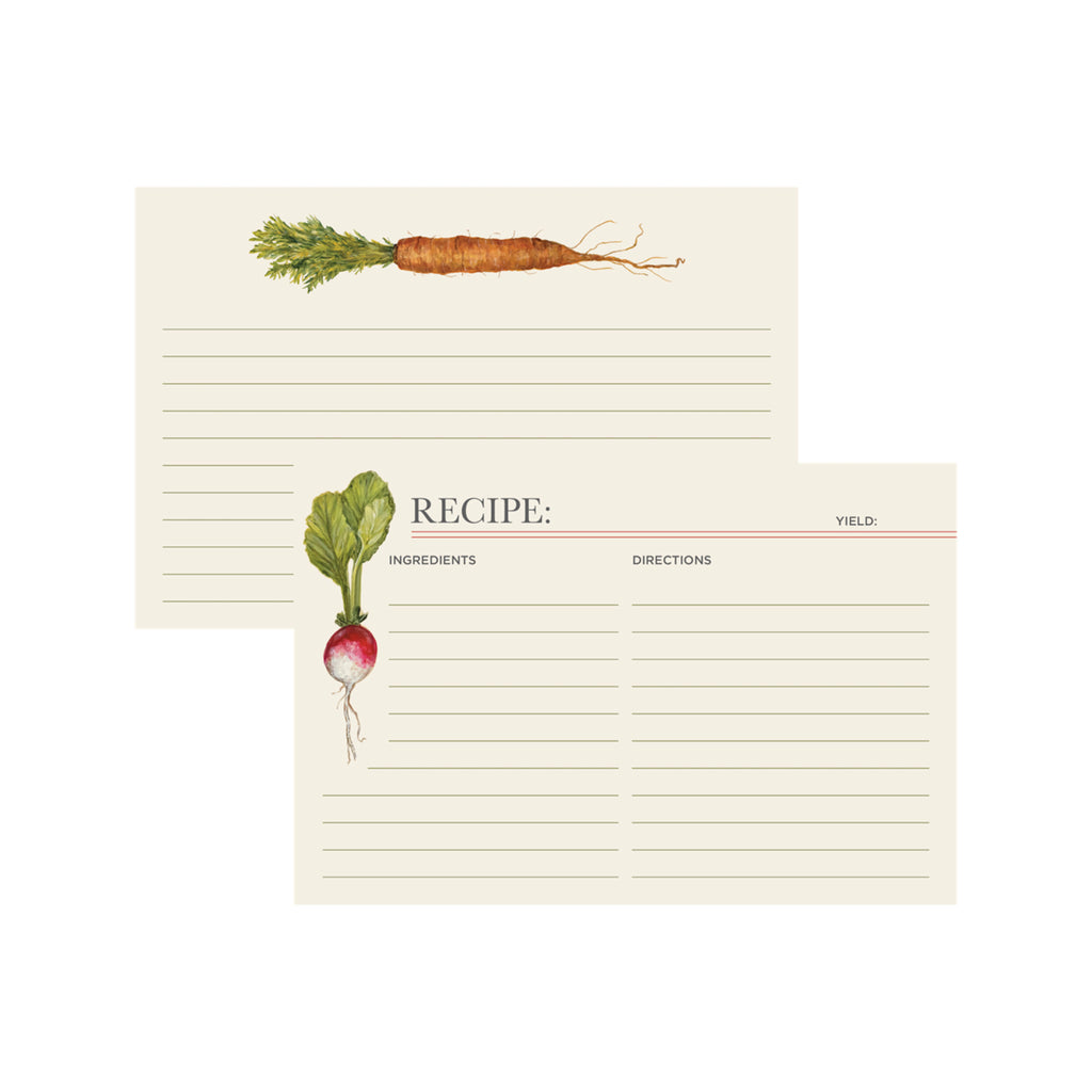 Farmer's Market Recipe Card Set