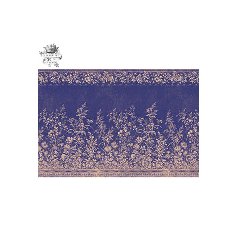 Navy Floral Paper Placemat Set