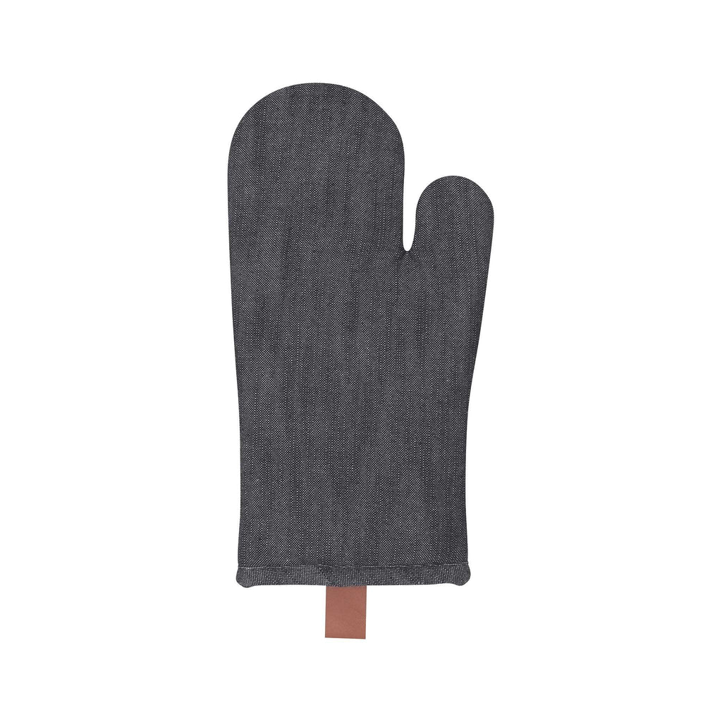 Black Denim Oven Mitt