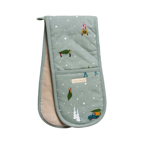 Sophie Allport Double Oven Glove - Home for Christmas