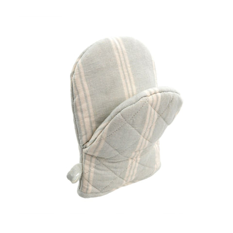 French Linen Mini Oven Mitt - Soft Blue