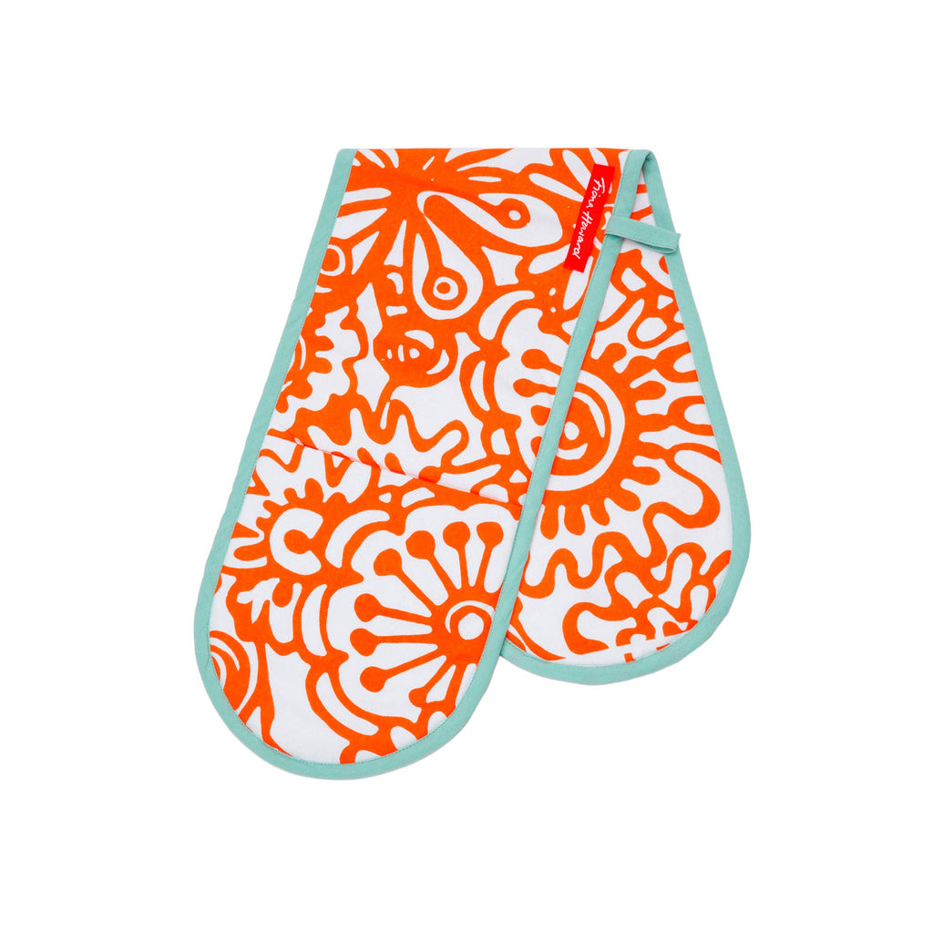 Fiona Howard Oven Gloves - Malibu Orange