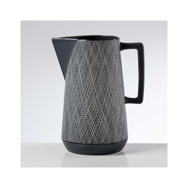 Bergen Weave Ceramic Pitcher - Grey