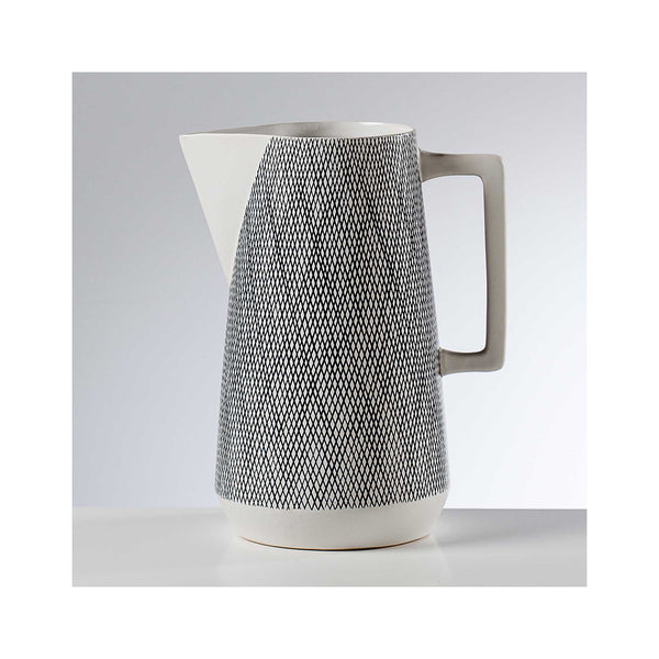 Bergen Weave Ceramic Pitcher - White