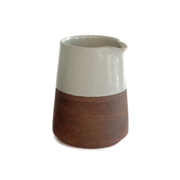 Terracotta Clay Tapered Jug - White