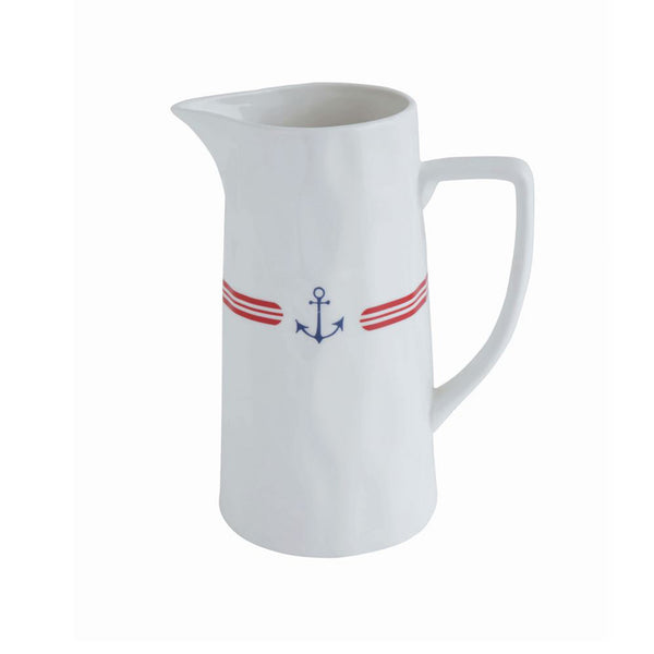 Anchor Motif Ceramic Pitcher