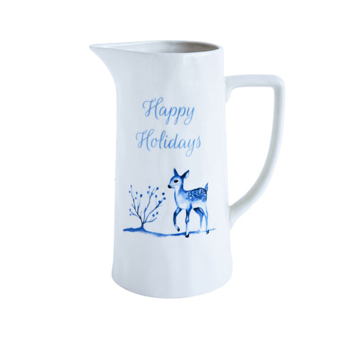 Blue & White Winter Scene Pitcher