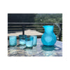 Mexican Handblown Glass Pitcher with Hand Blown Tumblers
