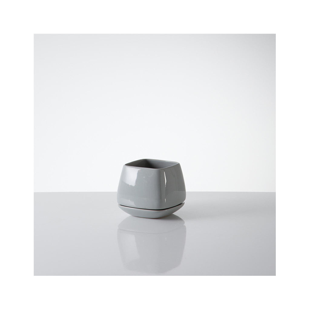 Mod Cuble Planters - Small- Cool Grey