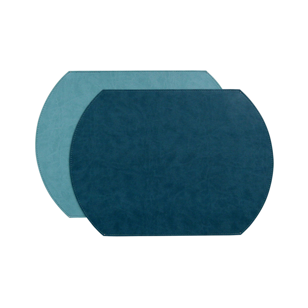 Gallery Oval Reversible Placemat - Lagoon/Seafoam
