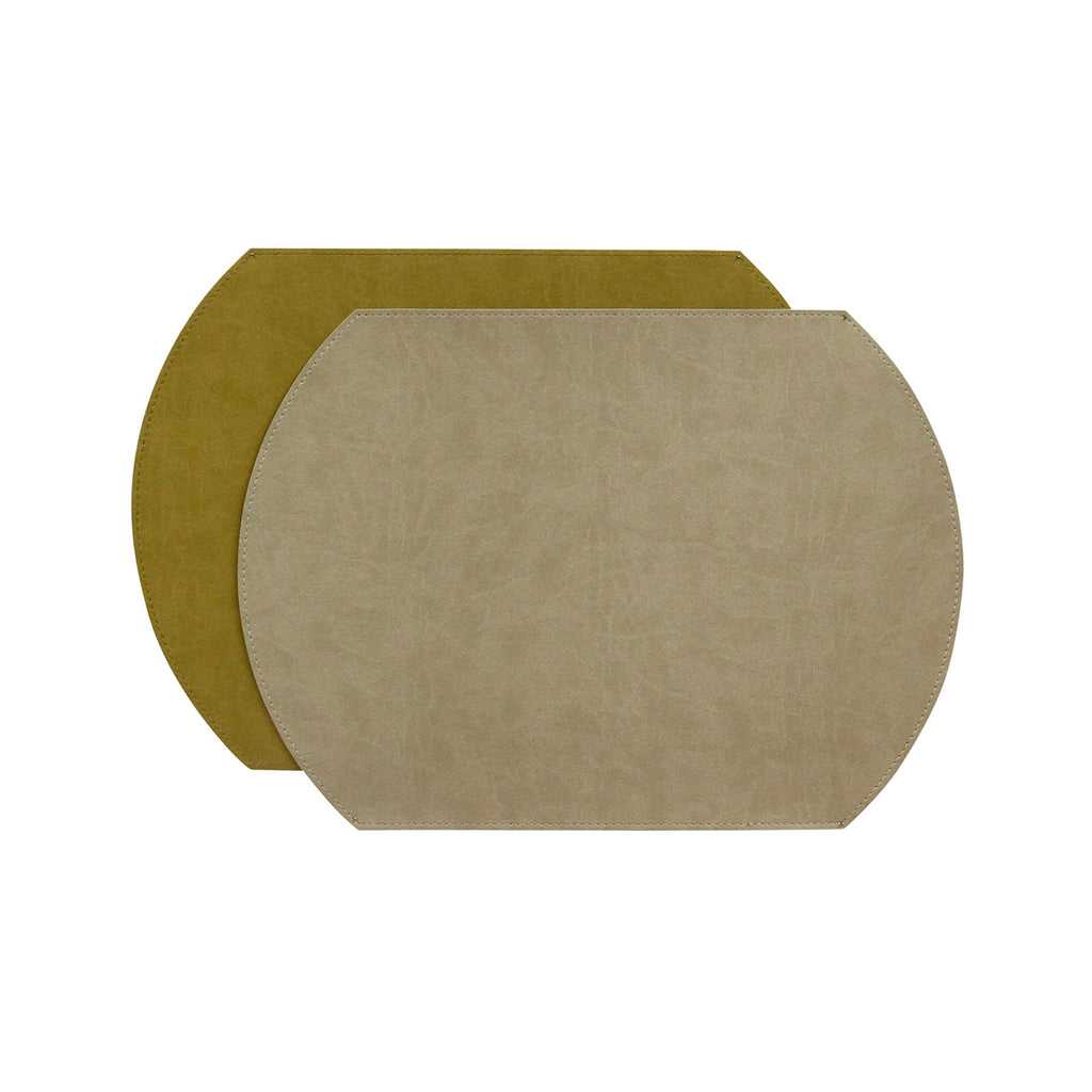 Gallery Oval Reversible Placemat - Mercury/Ochre