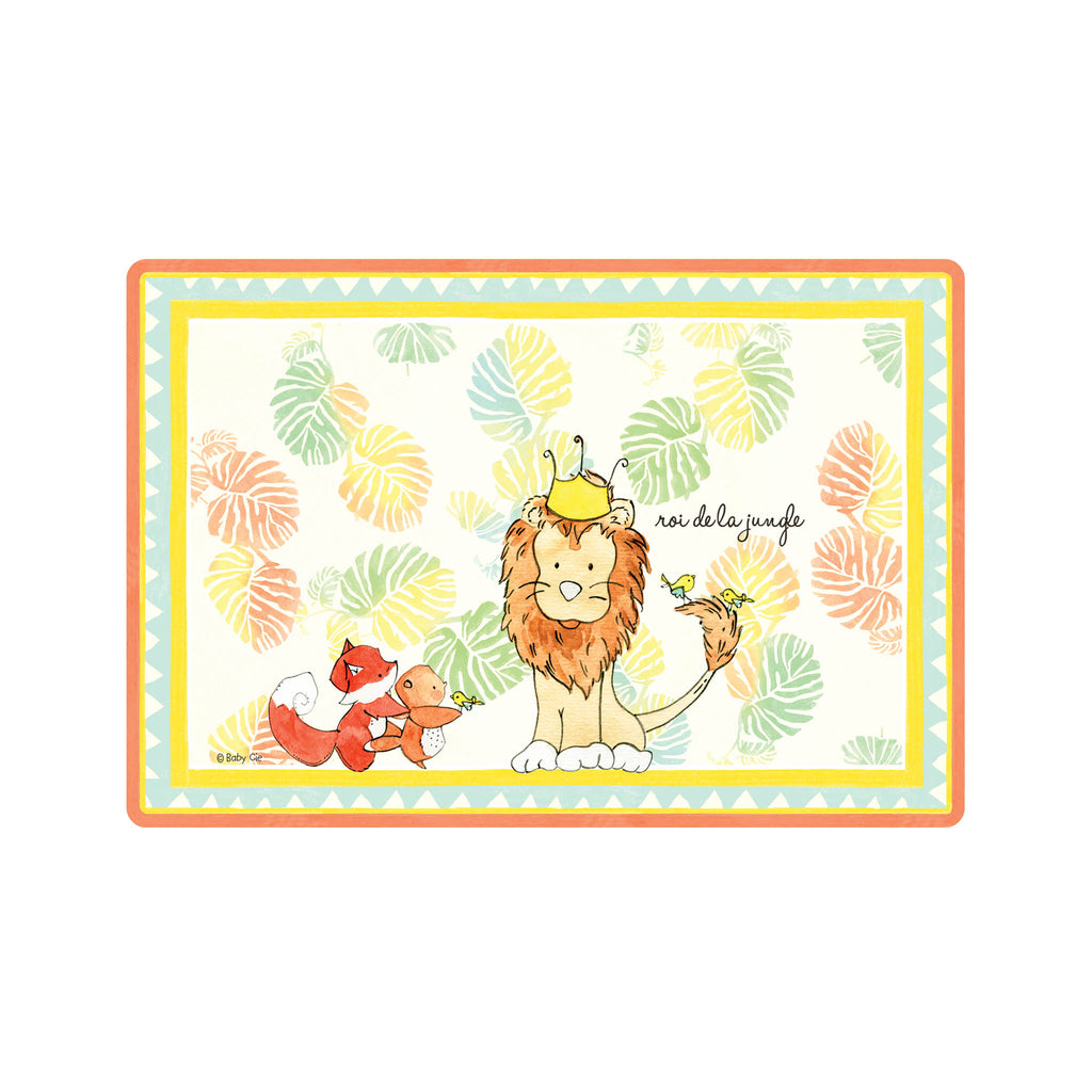 Kids Wipeable Placemat - King of the Jungle