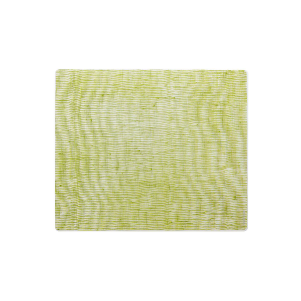 Modern Twist Silicone Placemat - Apple Green Linen