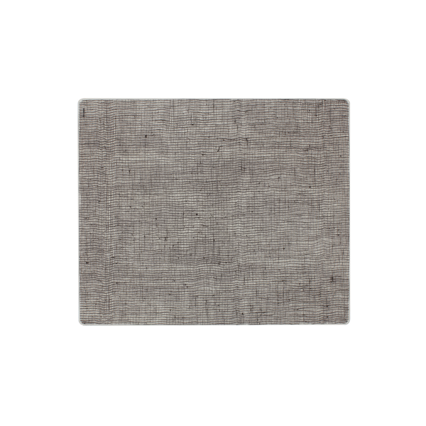 Modern Twist Silicone Placemat - Chocolate Linen