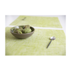 Modern Twist Silicone Placemat - Green Apple Linen on Tabletop