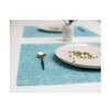 Modern Twist Silicone Placemat - Sea Foam on Tabletop