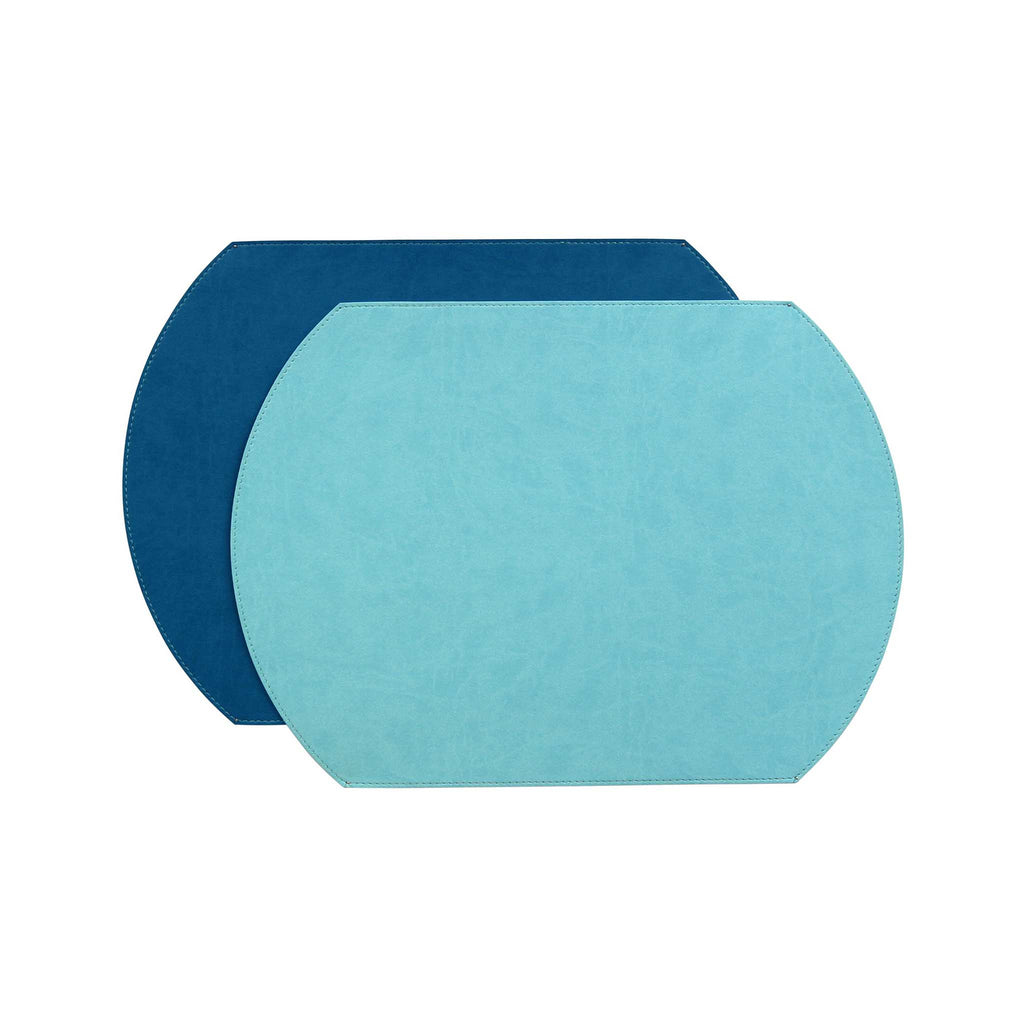 Gallery Oval Placemat - Turquoise/Blue