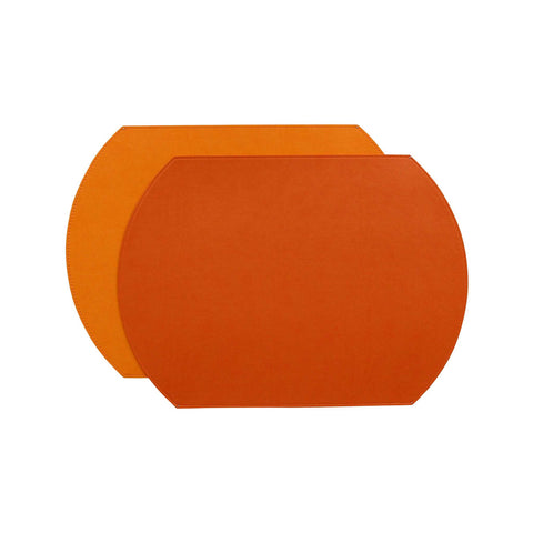 Gallery Oval Placemat - Coral/Orange