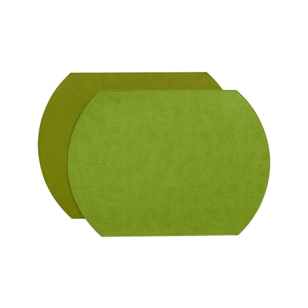 Gallery Oval Placemat   Lime/Green
