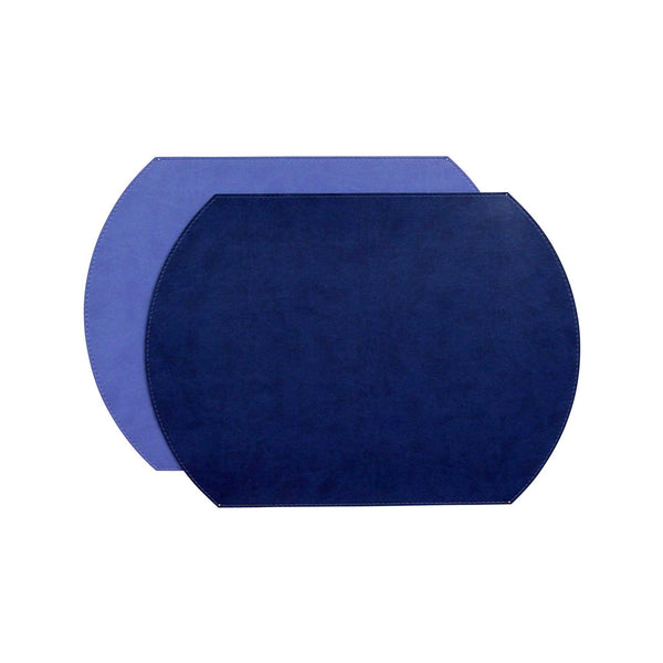 Gallery Oval Placemat   Navy/Periwinkle