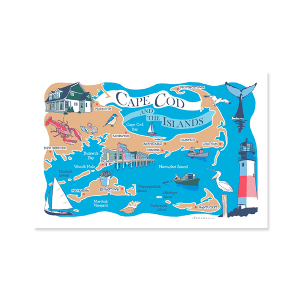 Cape Cod & The Island Kitchen Towel