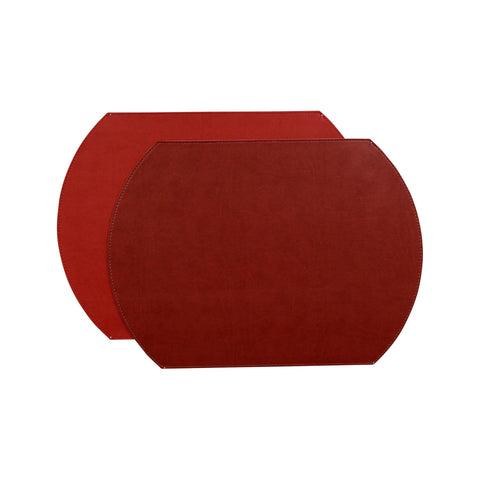 Gallery Oval Reversible Placemat - Crimson/Red