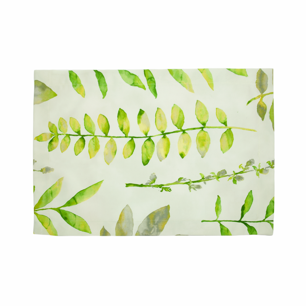 Water's Edge Placemats - Green/White