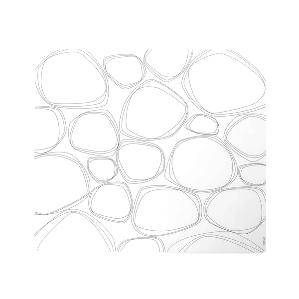 Modern Twist Silicone Placemat -  Black Pebble