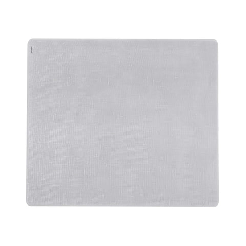 Modern Twist Silicone Placemat - Linen - Silver