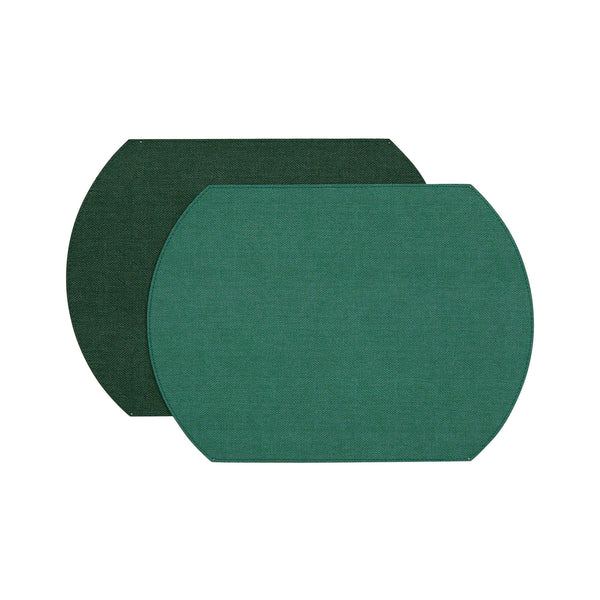 Herringbone Two-Sided Vinyl Placemat - Spruce/Hunter