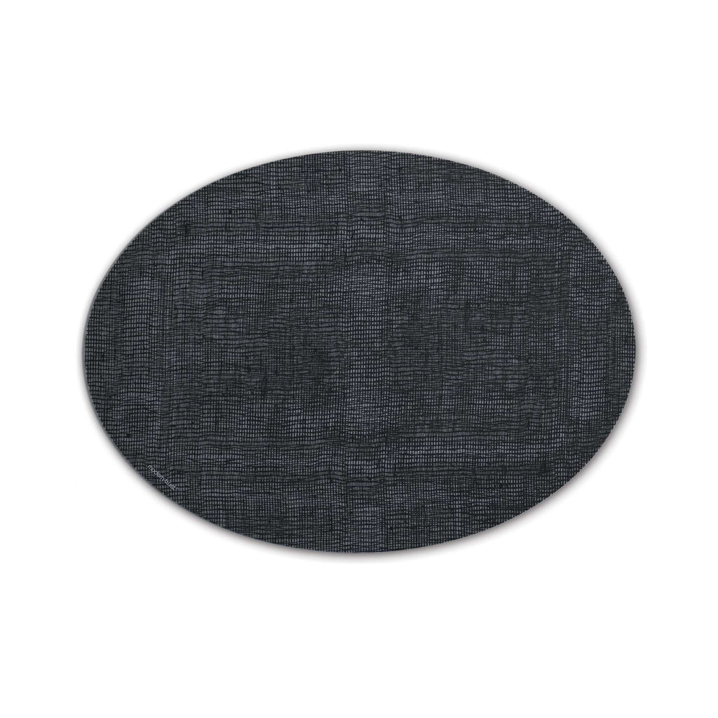 Modern Twist Silicone Placemat - Oval -Black