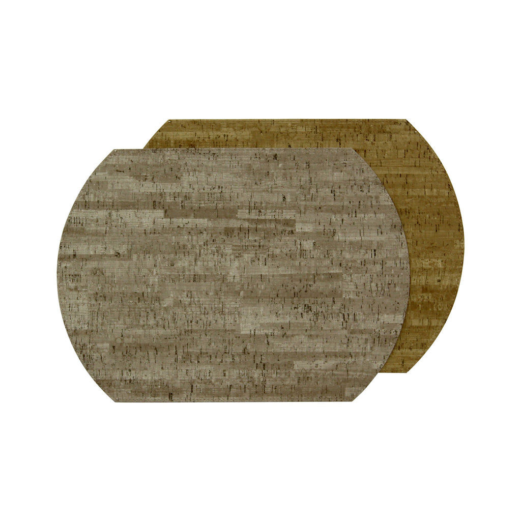 Cork Vinyl Reversible Placemat - Mercury / Sand