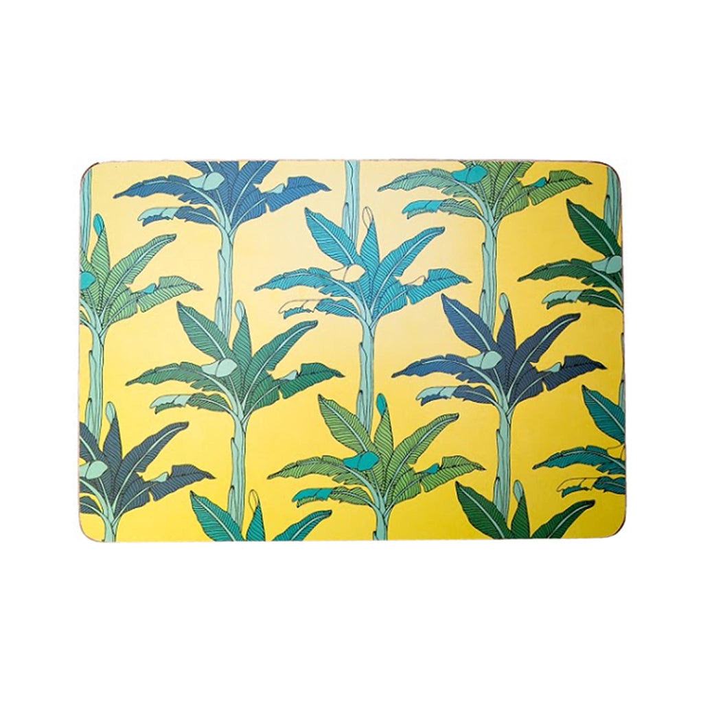 South African Melamine Placemat - Palms Yellow