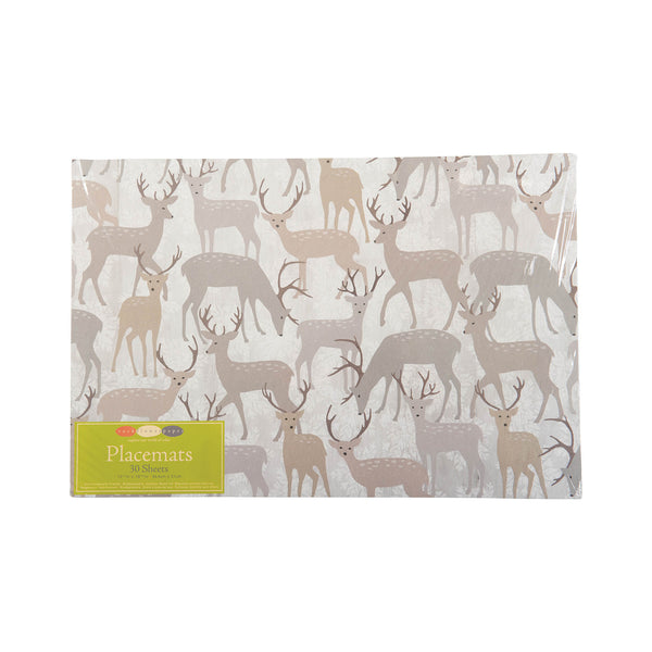 Winter Stags Paper Placemat Set