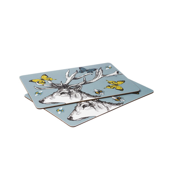 Stag with Butterflies Tablemats Set of 2