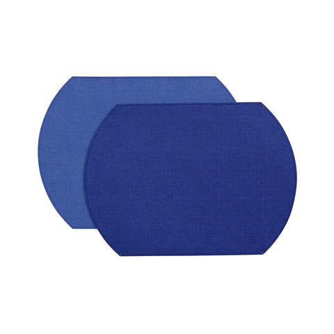 Herringbone Two-Sided Vinyl Placemat - Royal / Cobalt