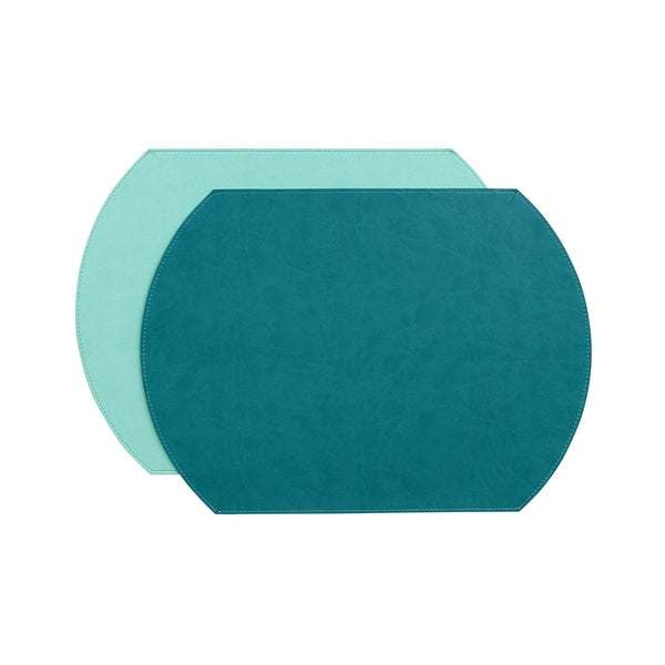 Gallery Oval Reversible Placemat - Spearmint / Aruba