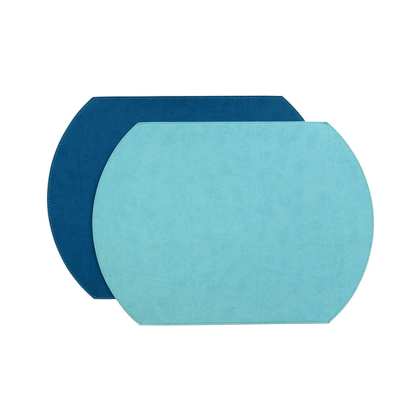 Gallery Oval Reversible Placemat - Turquoise / Teal