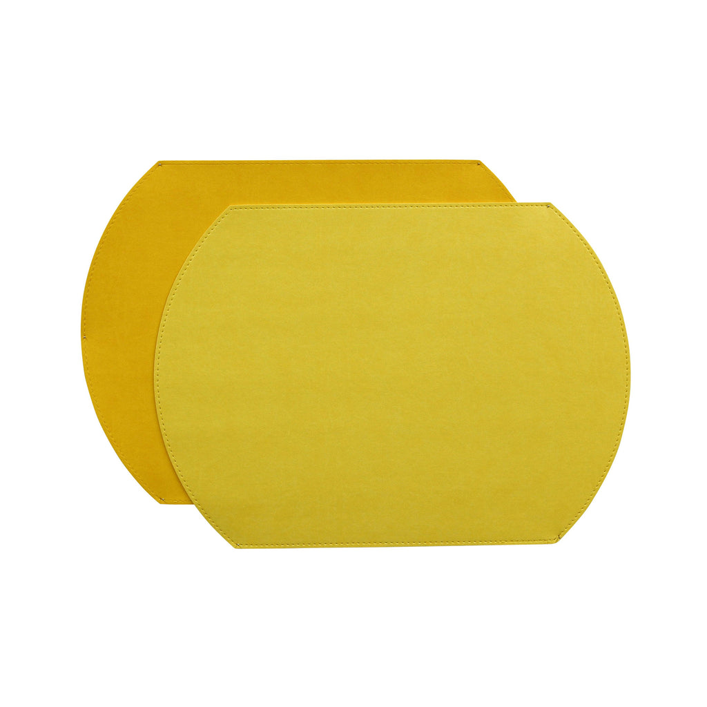 Gallery Oval Placemat - Lemon / Sunshine