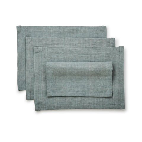 Hand-woven Cotton Placemat Set of 4- Celadon