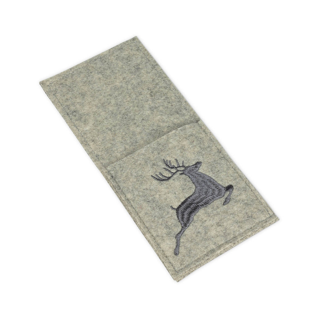 Felt Cutlery Pocket - Leaping Reindeer