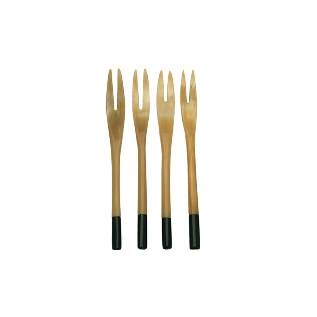 Mixed Horn Small Forks Set of 4