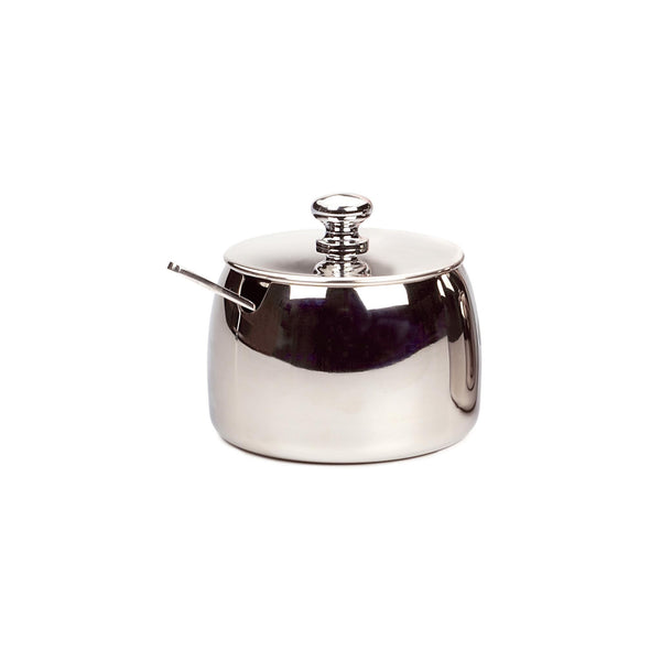 Stainless Lidded Sugar Bowl