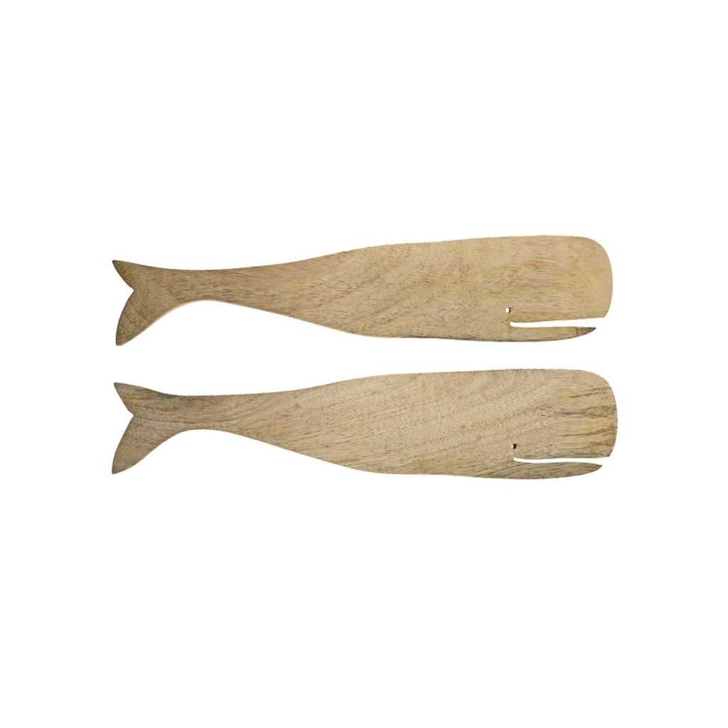 Whale Salad Server Set - Mango Wood