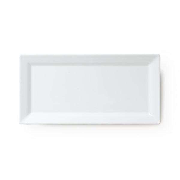 Diamond White Melamine Serving Platter - Rectangle
