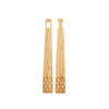 Bamboo Interlocking Salad Tongs Separated
