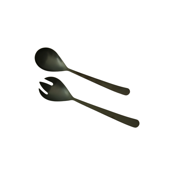 Oslo Salad Server Set - Matte Black