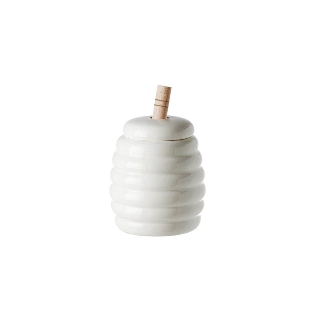 Porcelain Honey Pot with Dipper